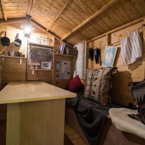 Arctic Hut interior. Credit: Gary Brown